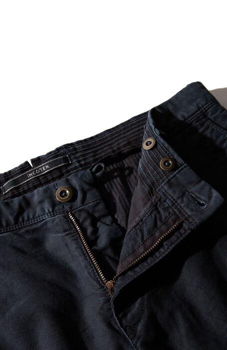Slim fit blue stretch Tricochino trousers , Incotex - Slacks | Slowear