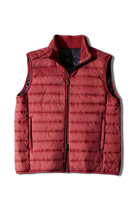 Padded vest covered with red technical fabric , Urban Traveler   Slowear