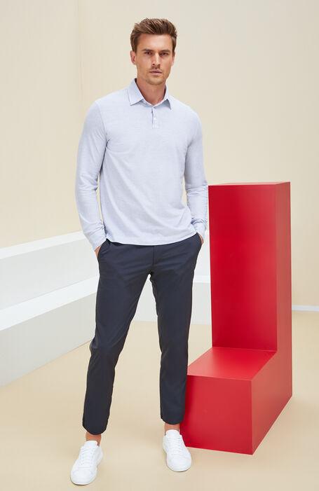 Slim-Fit-Hose aus blauem technischen Gewebe , Urban Traveler | Slowear
