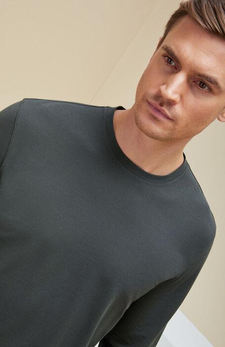 Green long-sleeved IceCotton T-shirt , Zanone | Slowear