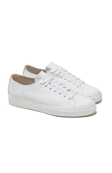 Textured calfskin trainers with beige detailing , Officina Slowear | Slowear