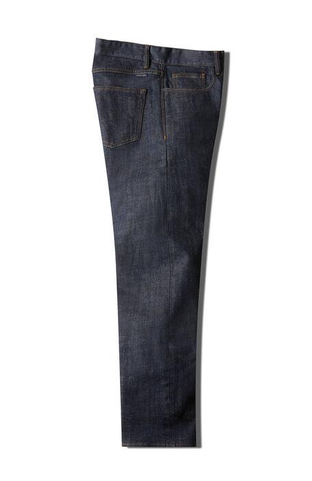 Pantalone cinque tasche slim fit in denim stretch blu , Indigo Chino | Slowear
