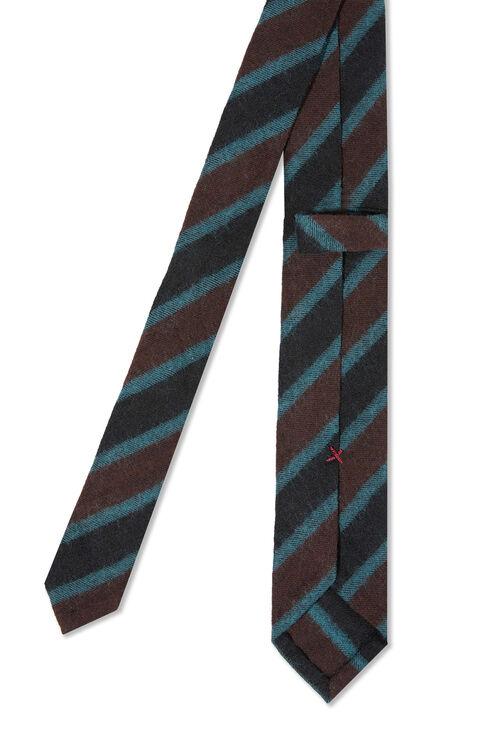 Striped Wool and Cotton Tie , Officina Slowear | Slowear