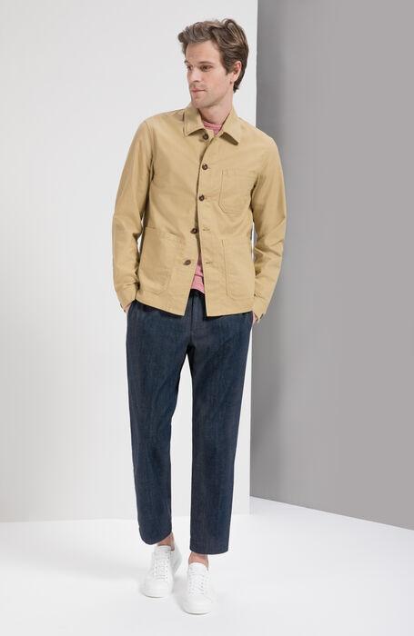 Short Sleeve Striped Linen Jersey T-Shirt , Zanone | Slowear