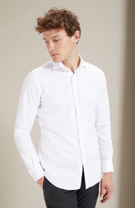 White Slim Fit Oxford Shirt with French Collar , Glanshirt | Slowear