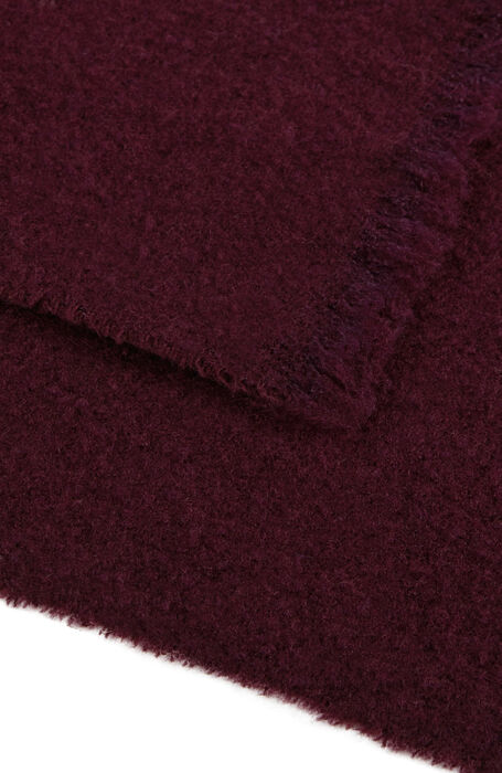 Burgundy wool and cashmere scarf , Zanone | Slowear