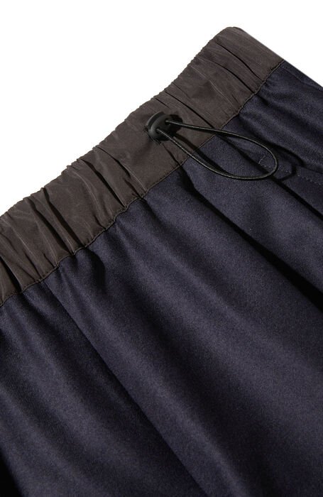 Wide fit trousers in stretch flannel with dark blue nylon details , Incotex | Slowear