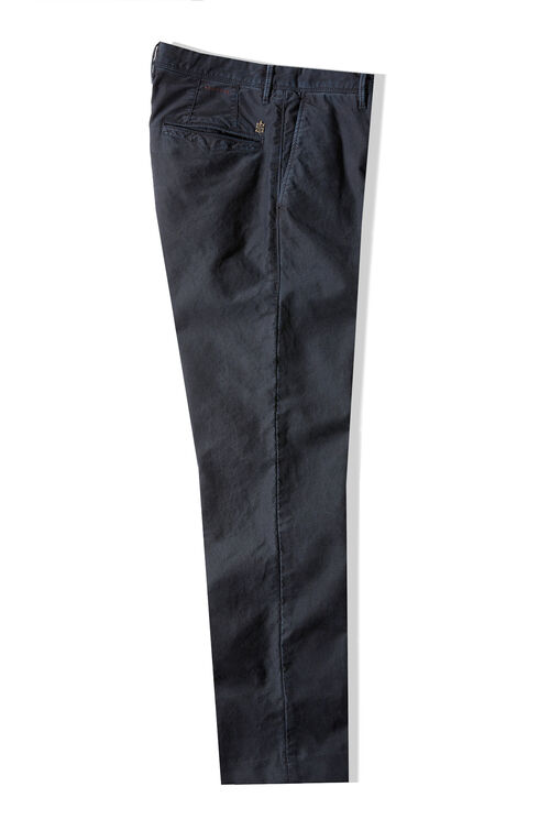Slim fit blue stretch Tricochino trousers , Incotex - Slacks | Slowear