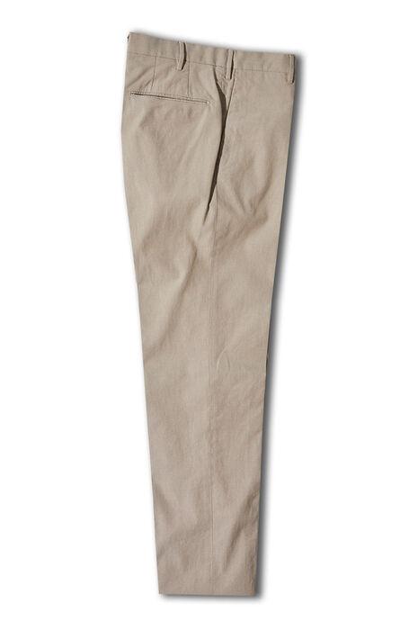 Beige crepe cotton slim fit trousers , Incotex - Venezia 1951   Slowear