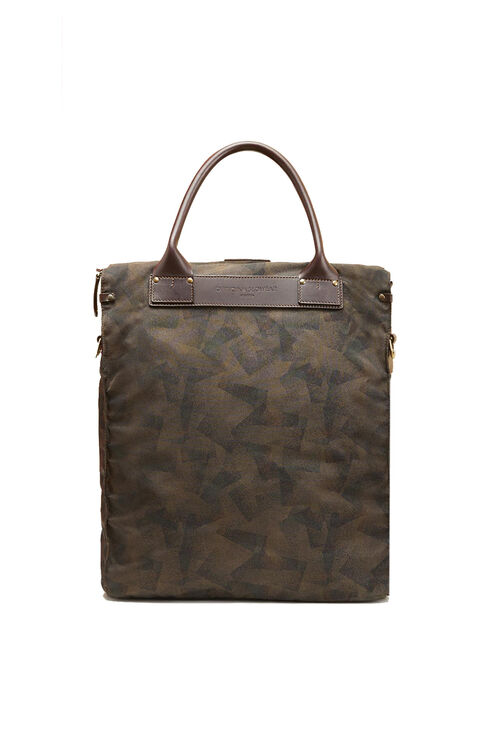 Business bag in military nylon with leather details , Felisi | Slowear