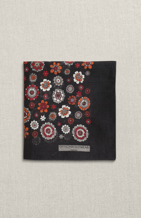 Clutch printed in silk cotton muslin , Officina Slowear | Slowear