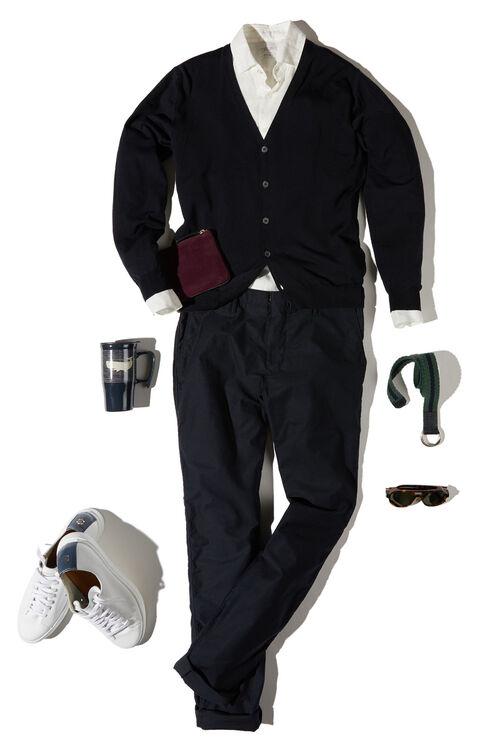 Slim-fit Flexwool cardigan , ZANONE Flexwool   Slowear