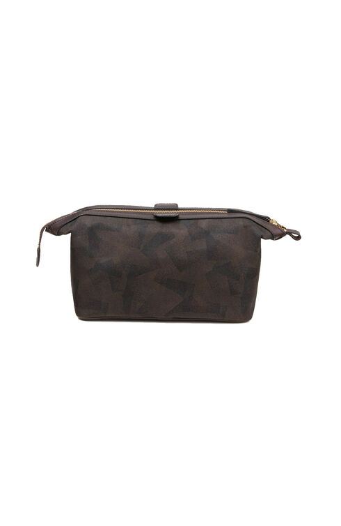 Toiletry bag in military nylon with leather details , Officina Slowear | Slowear