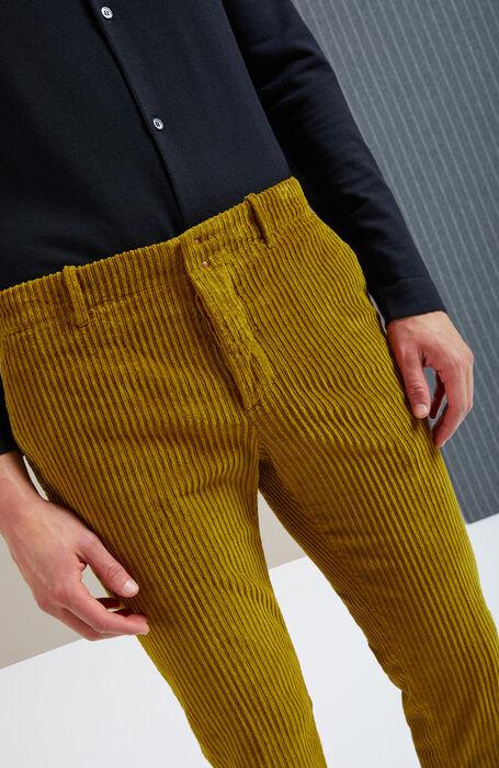 Slim-fit corduroy dark yellow trousers , Incotex - Verve   Slowear