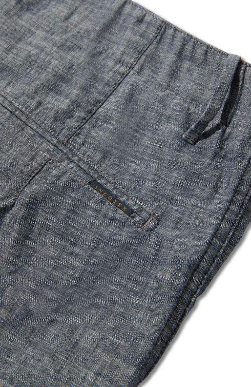 Regular-fit cotton chambray Bermuda shorts , Indigochino | Slowear