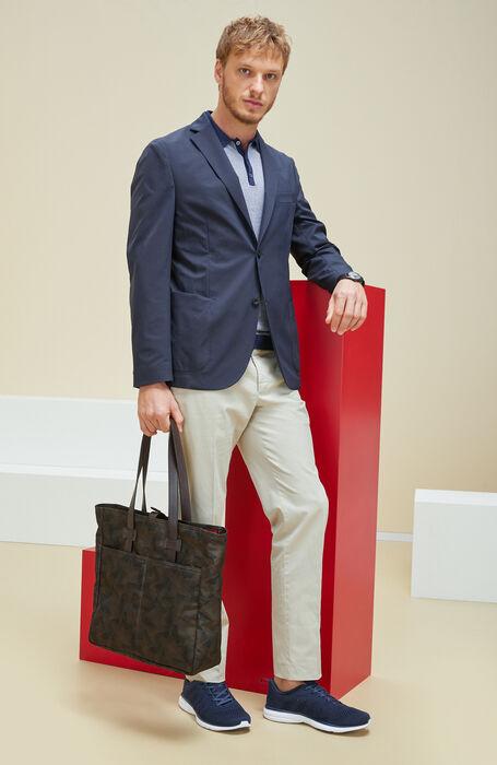 Two-Tone Cotton Pique Short Sleeve Polo Shirt , Zanone | Slowear