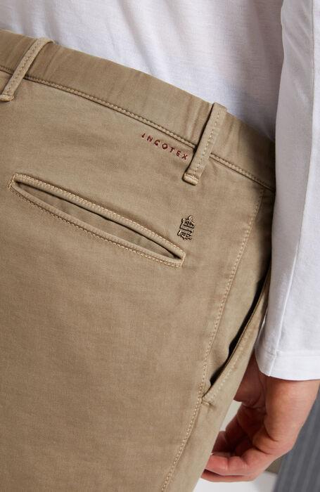 Pantalone tapered fit in cotone stretch grigio , Incotex - Slacks | Slowear