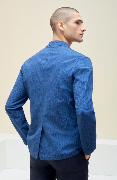 Blue seersucker Sport Jacket , Montedoro | Slowear