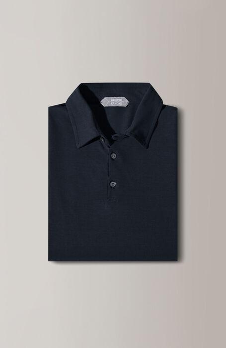 Blue short-sleeved IceCotton polo shirt , Zanone | Slowear
