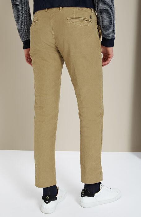 Pantalone slim fit in Tricochino stretch beige , Incotex - Slacks | Slowear