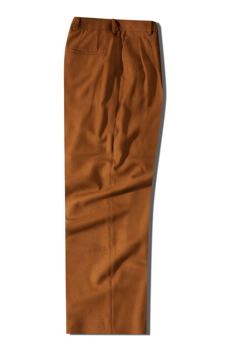 Wide fit trousers in brown viscose and wool , Incotex | Slowear