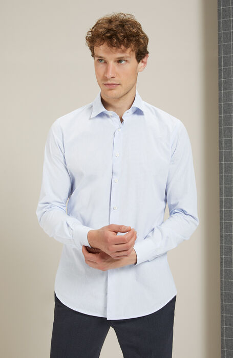 Slim Fit Oxford Shirt with French Collar , Glanshirt | Slowear