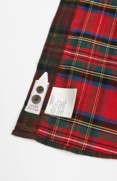 Camicia regular fit collo classico in cotone caldo e fantasia tartan rossa , Glanshirt | Slowear