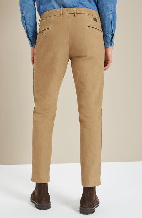 Beige slim-fit stretch cotton trousers , Incotex - Slacks | Slowear
