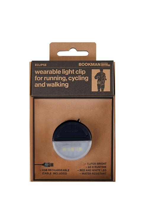 Black rechargeable wearable clip light , Bookman   Slowear