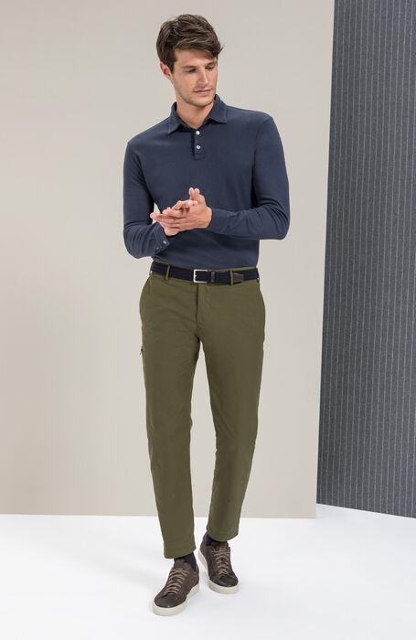 Long-sleeved polo shirt in cotton jersey Interlock , Zanone | Slowear