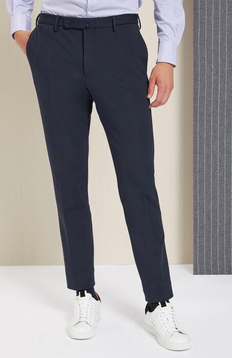 Slim-fit trousers in soft jersey , Incotex - Venezia 1951 | Slowear