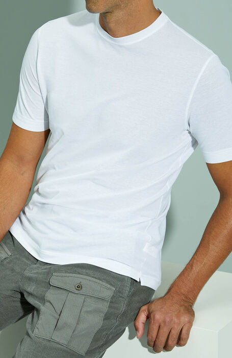 White short-sleeved Ice Cotton T-shirt , ZANONE Icecotton | Slowear