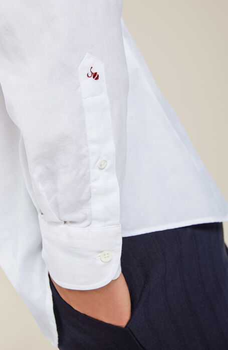 Regular fit shirt with classic collar , Glanshirt | Slowear