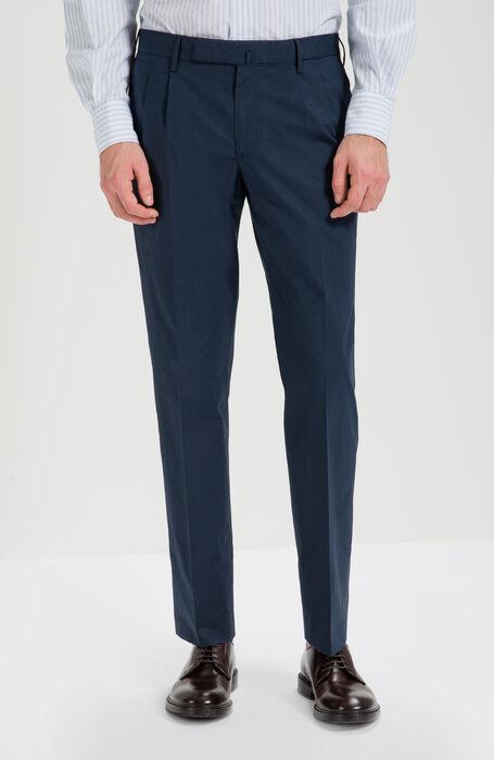 Pantalone Slim Fit in Cotone Stretch Blu , Incotex - Venezia 1951 | Slowear