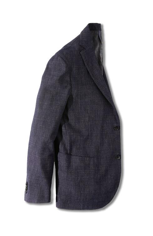 Unlined single-breasted jersey effect jacket , Montedoro | Slowear