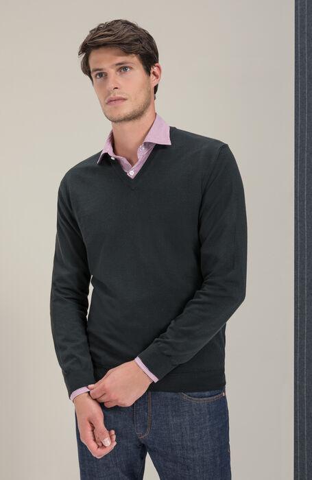V-neck sweater in Flexwool , Zanone | Slowear