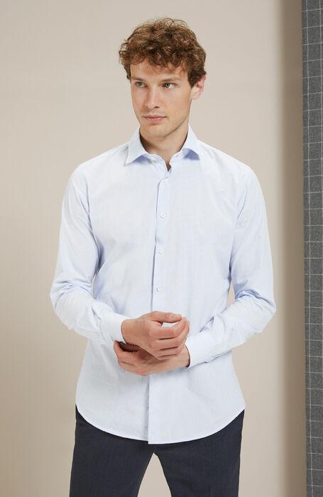 Slim-fit checkered shirt with French collar , Glanshirt | Slowear