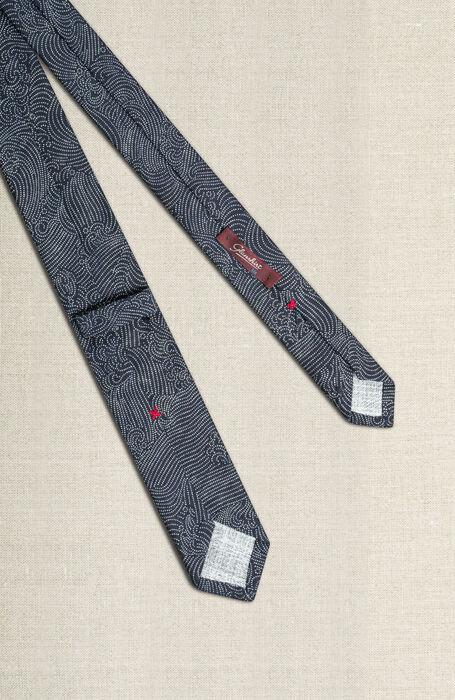Cravatta in cotone con stampa giapponese , Officina Slowear | Slowear