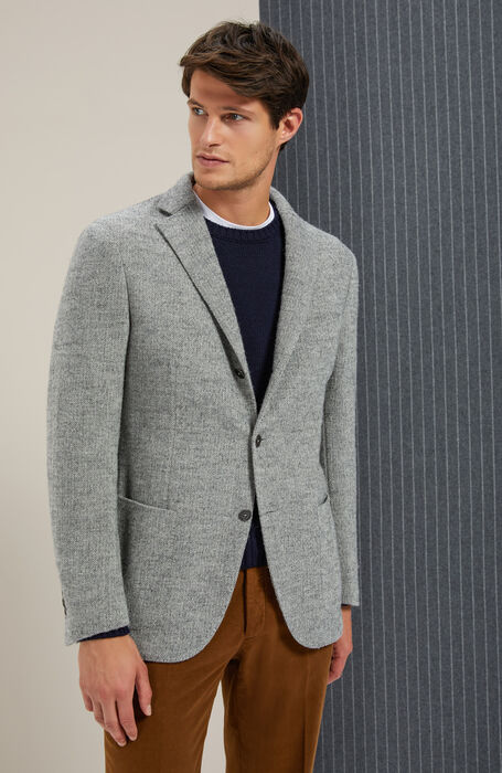 Single-breasted unlined jacket in Prince of Wales , Montedoro | Slowear