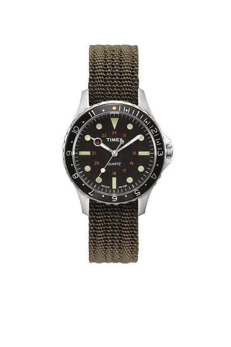 Navi Harbor 38mm Fabric Strap Watch , Timex | Slowear