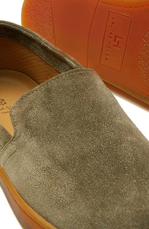 Suede calfskin espadrilles with rubber soles , Officina Slowear | Slowear
