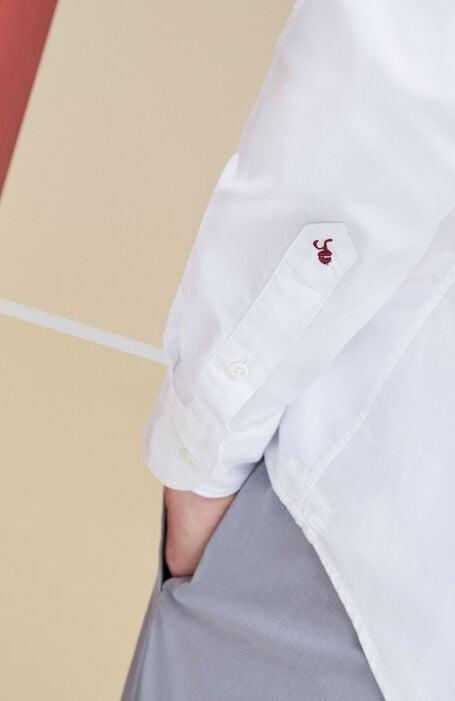 Camicia Bianca Slim Fit in Cotone Oxford , Glanshirt | Slowear