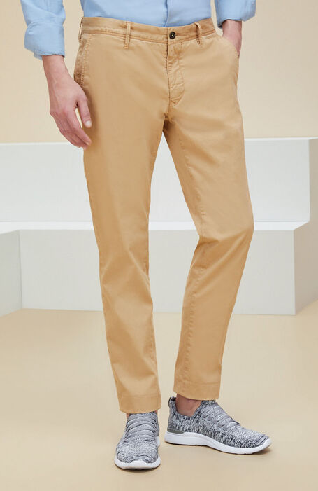 "Walnut slim-fit stretch cotton ""gabardine"" trousers , Incotex - Slacks 