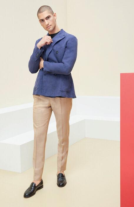 Slim fit mohair wool ultra-light walnut trousers , Incotex - Venezia 1951 | Slowear