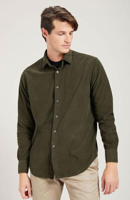 コーデュロイ クラシックカラー レギュラーフィットシャツ , Glanshirt | Slowear