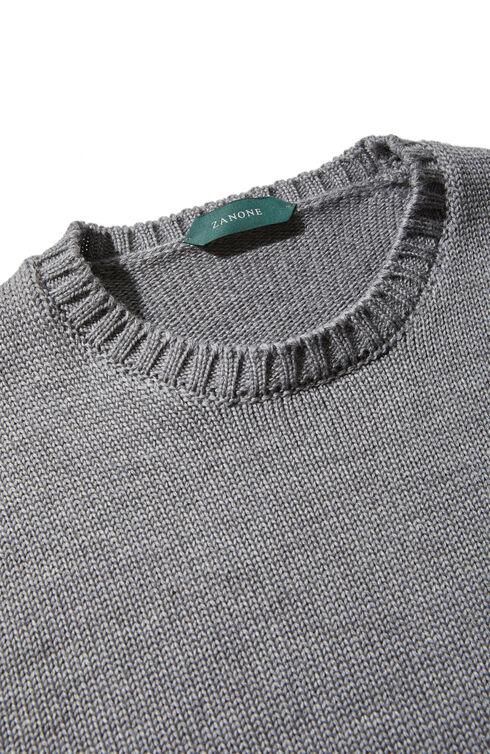 Slim-fit merino wool crewneck sweater , Zanone   Slowear