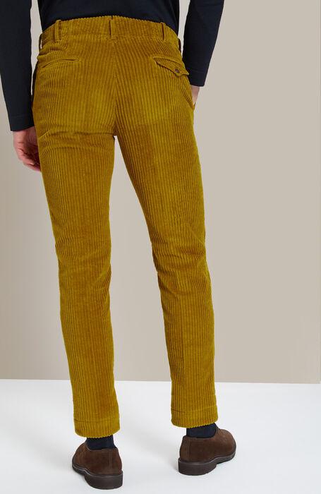 Slim-fit corduroy dark yellow trousers , Incotex - Verve | Slowear