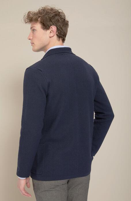 Single-breasted merino wool blue jacket , Zanone | Slowear