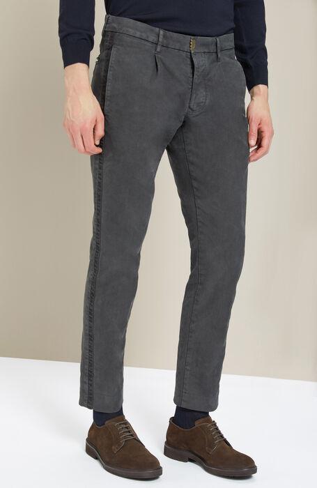 Pantalone slim fit in cotone stretch antracite , Incotex - Slacks | Slowear