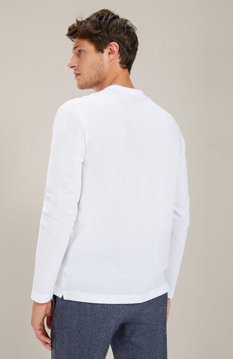 Long sleeve crew neck t-shirt in Zanone IceCotton , Zanone | Slowear